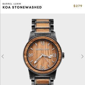 Brand new KOA Epoxy Stonewash Steel men's  watch